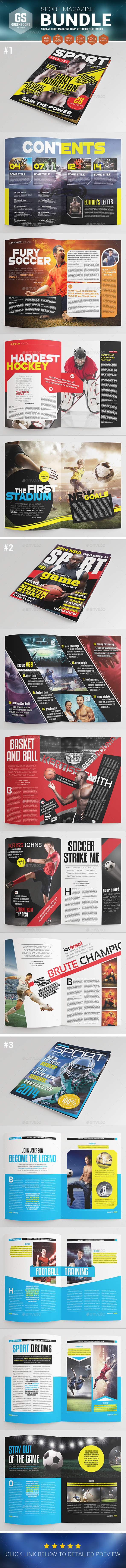 Sport Magazine Bundle - Magazines Print Templates