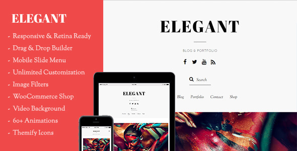 Elegant – Minimal Blog & Portfolio WordPress Theme