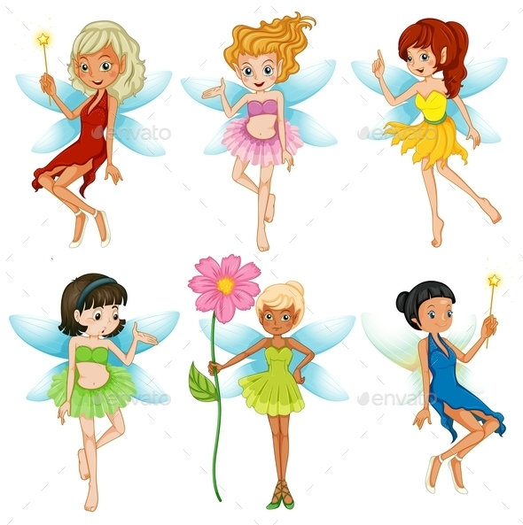 Fairies Set - People Characters