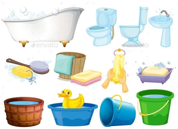 Bath Set - Objects Vectors
