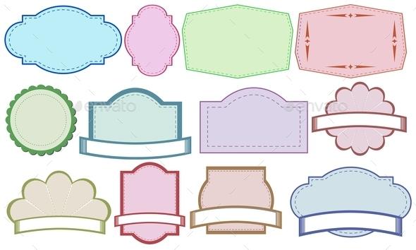 Color Labels - Miscellaneous Vectors