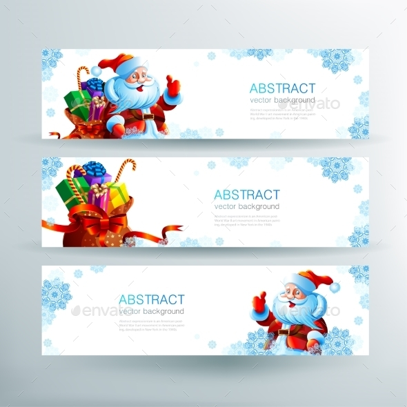 Banner with a Bag of Christmas Gifts - Christmas Seasons/Holidays
