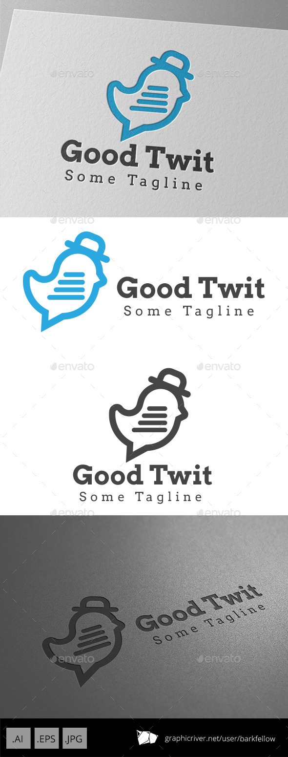 Bird Chat Logo - Animals Logo Templates
