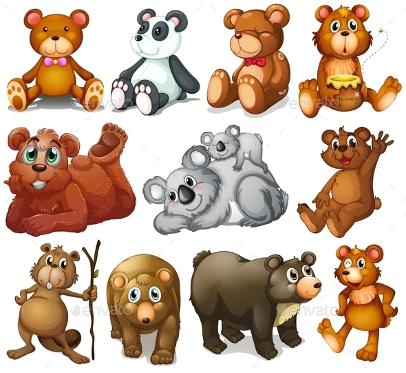 Huggable Teddy Bears - Animals Characters