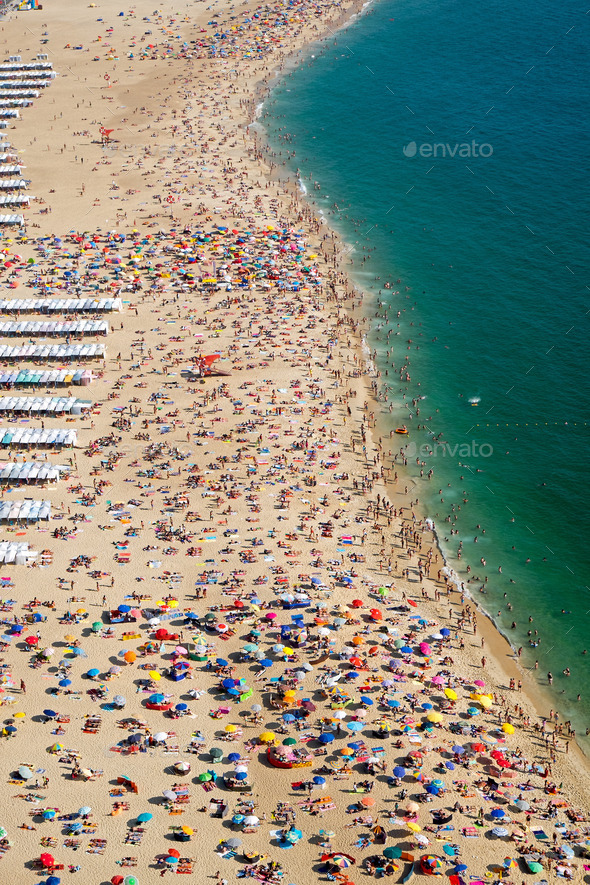 Lots of people at the beach - Stock Photo - Images
