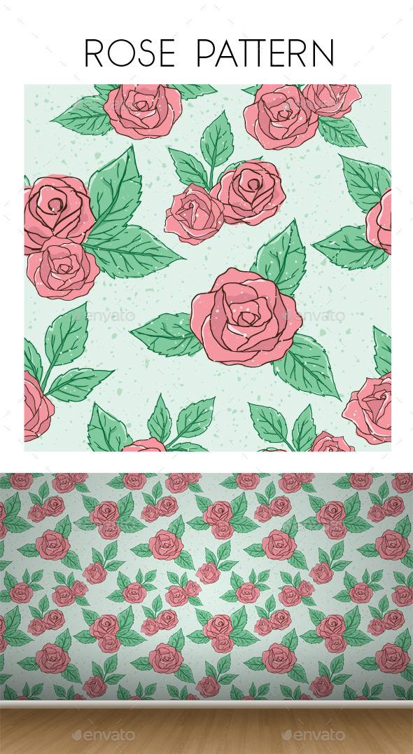 Vintage Rose  Pattern  - Patterns Decorative