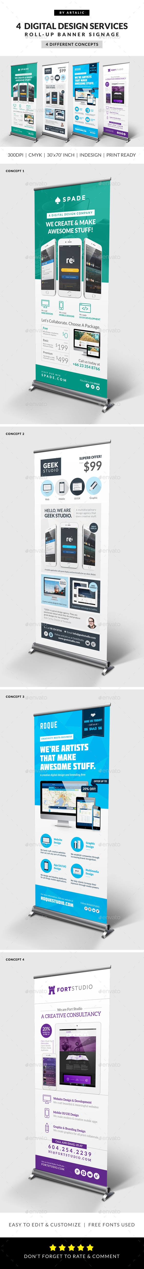 Design Agency/Studio Services - Signage Print Templates