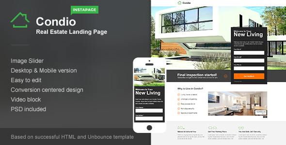 Condio - Real Estate Landing Page for Instapage - Instapage Marketing