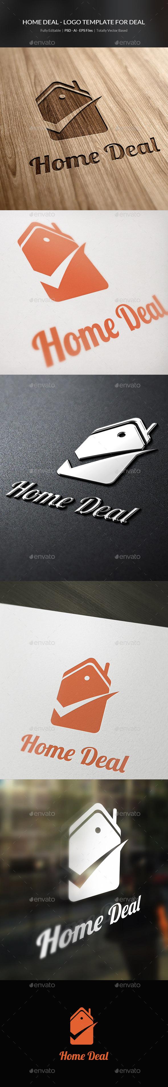 Home Deal Logo Template - Buildings Logo Templates
