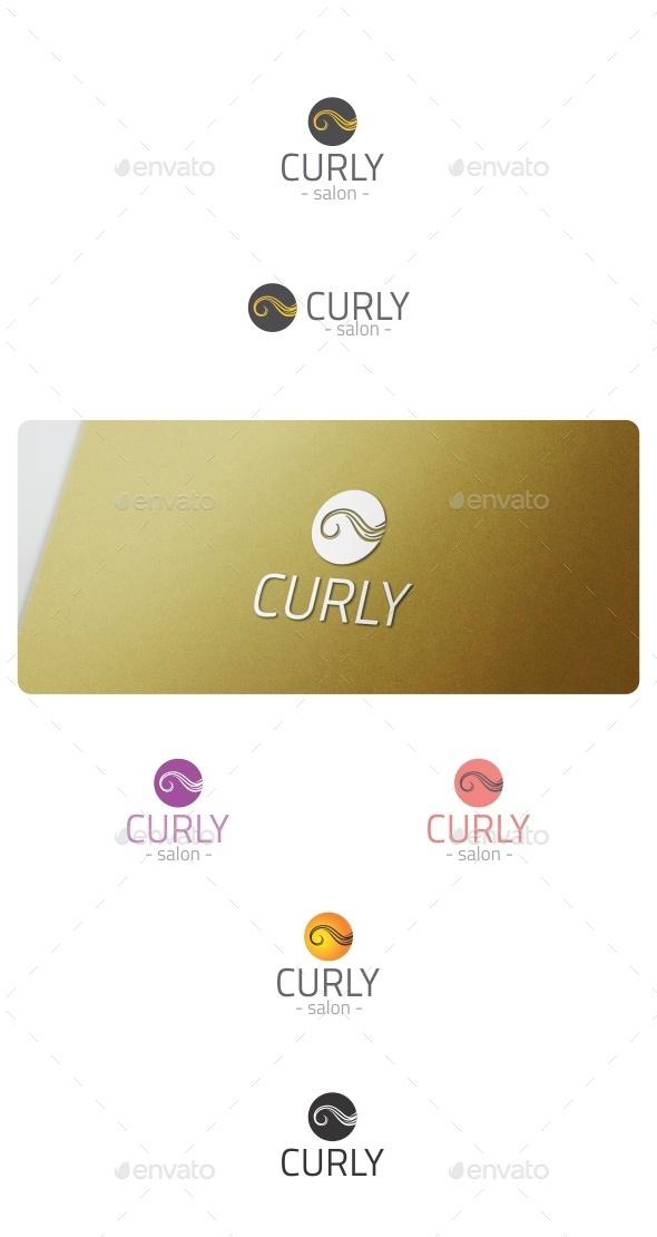 Curly Logo - Symbols Logo Templates