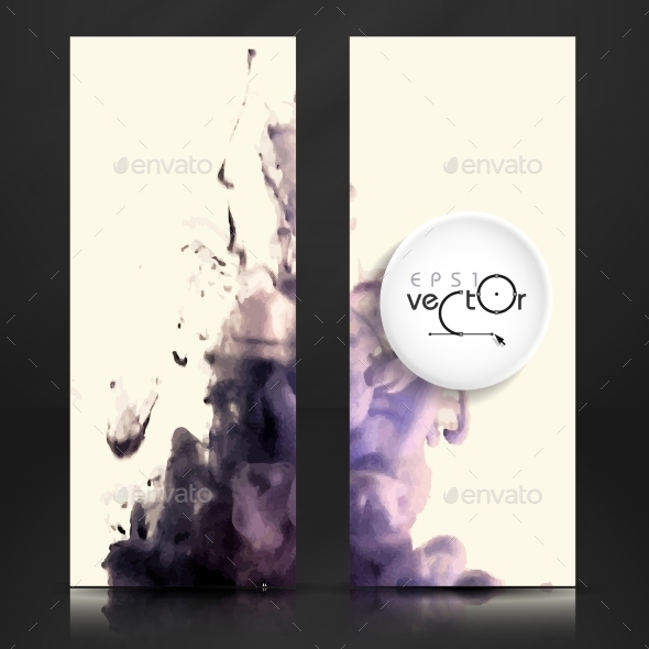 Cloud of Ink In Water - Backgrounds Decorative