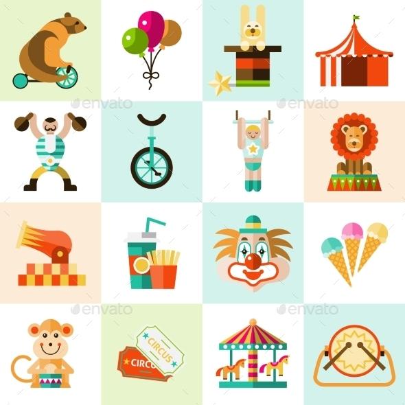 Circus Icons Set - Miscellaneous Icons