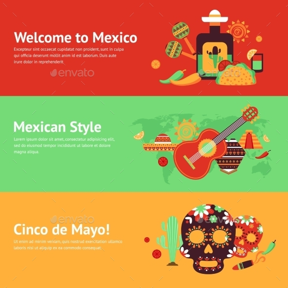 Mexico Banner Set - Travel Conceptual