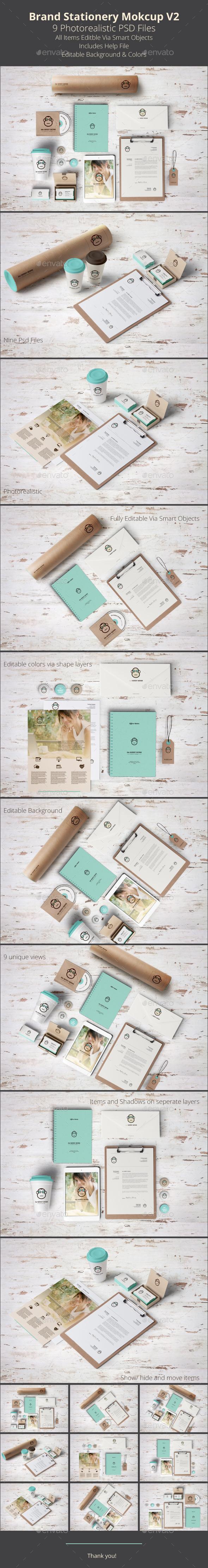 Brand Stationery Mockup V2 - Stationery Print