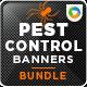 Pest Control Banner Bundle - 3 Sets - GraphicRiver Item for Sale