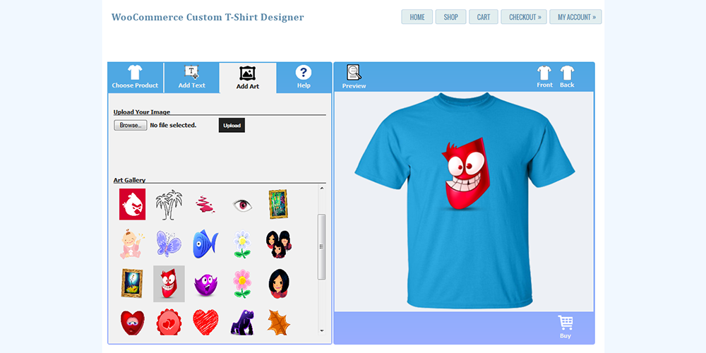Jigoshop Custom T Shirt And Product Designer By Wpproducts Codecanyon