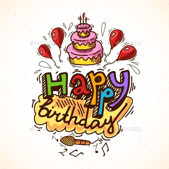 Birthday Card Sketch - Birthdays Seasons/Holidays