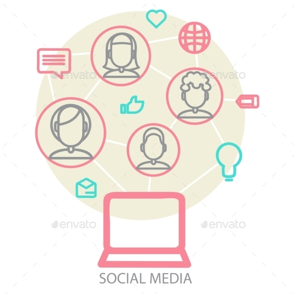 Social Media Background  - Business Conceptual