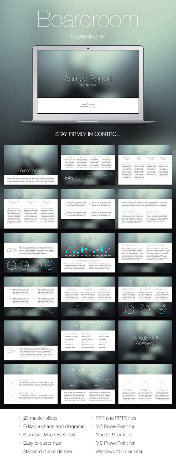 Boardroom PowerPoint Template - PowerPoint Templates Presentation Templates