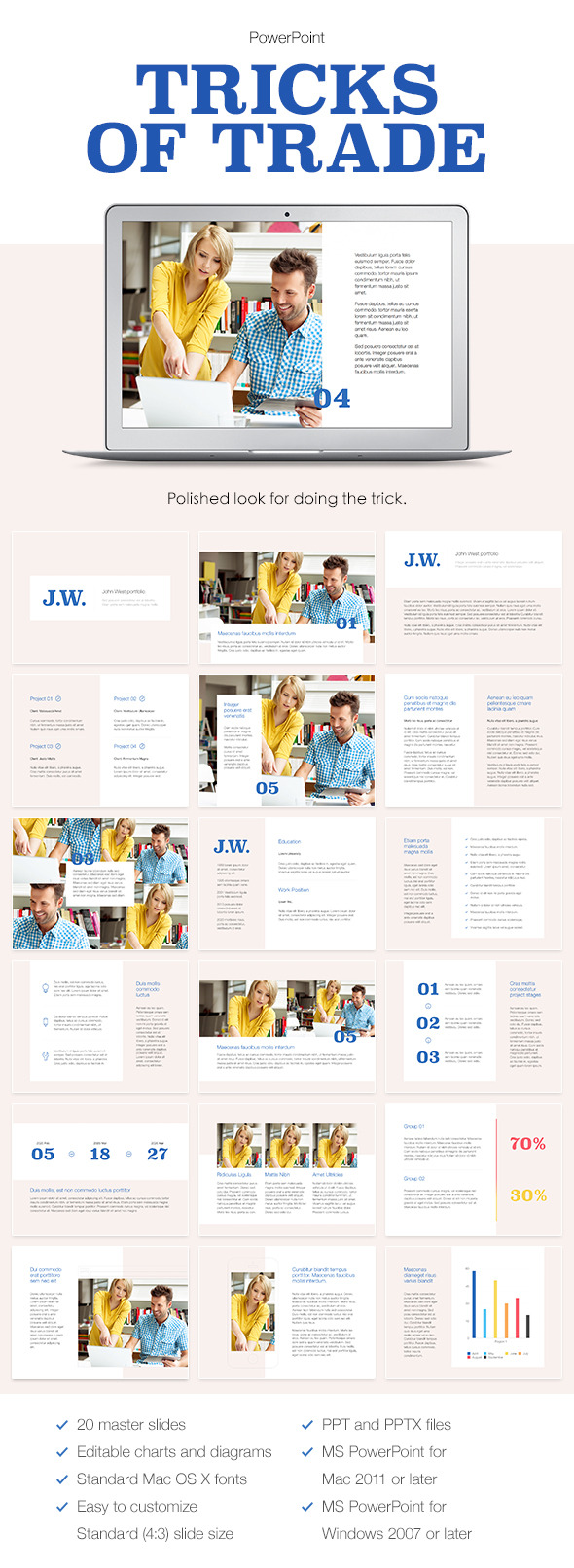 Tricks of Trade PowerPoint Template - PowerPoint Templates Presentation Templates