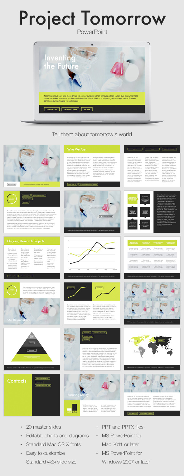 Project Tomorrow PowerPoint Template - PowerPoint Templates Presentation Templates