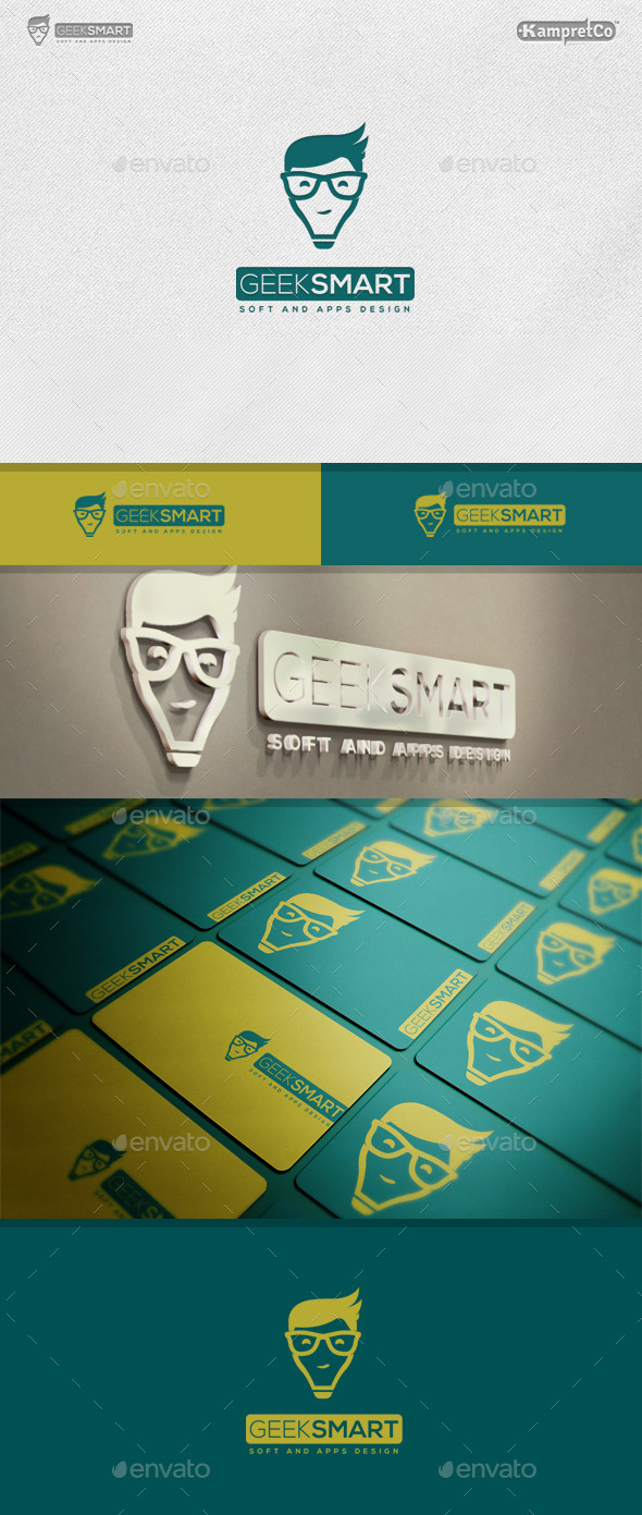 Geek Smart Logo - Vector Abstract
