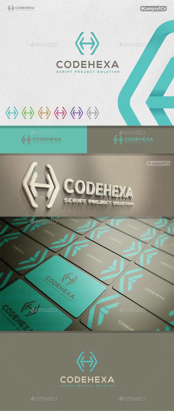 Code Hexa Logo - Letters Logo Templates