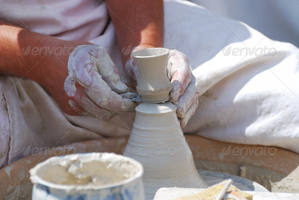 Making pottery - Stock Photo - Images
