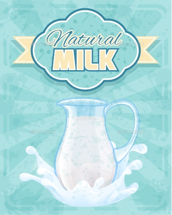 Milk Pitcher Poster - Food Objects