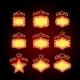 Retro Illuminated Movie Marquee Vector Set - GraphicRiver Item for Sale