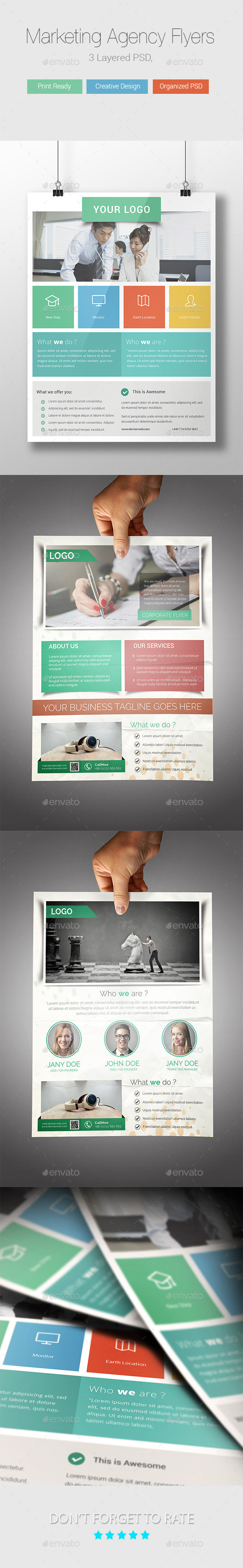Marketing Agency Flyer Templates - Corporate Flyers