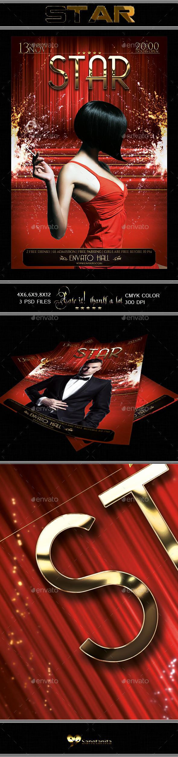 Red Carpet Flyer - Concerts Events