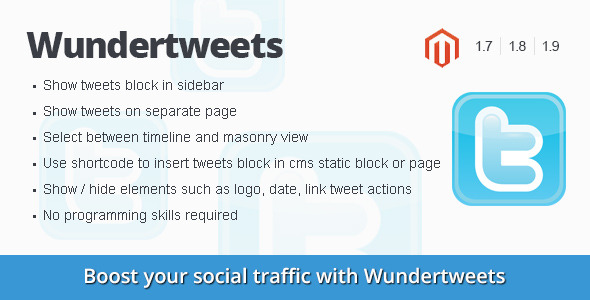 Wundertweets - twitter magento extension - CodeCanyon Item for Sale
