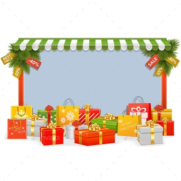 Christmas Shopping Board - Christmas Seasons/Holidays