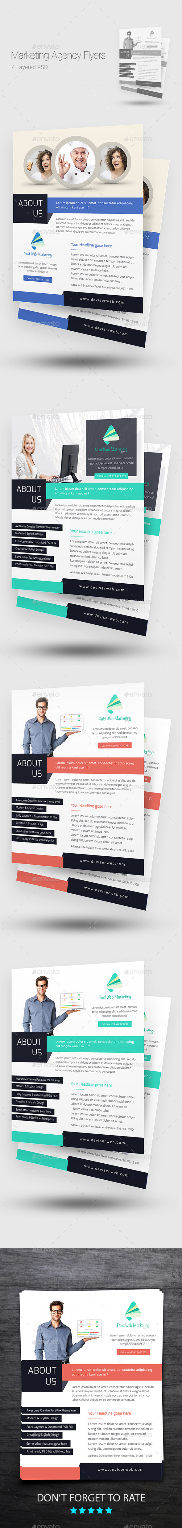 Creative Marketing Agency Flyer/Poster Templates  - Corporate Flyers