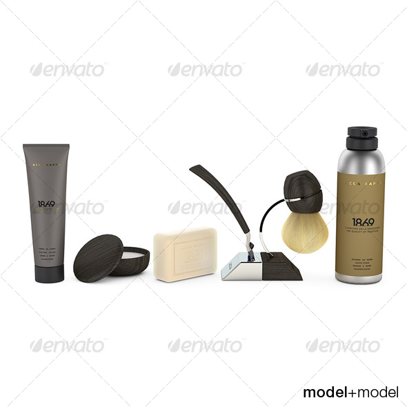 Acca Kappa shaving set - 3DOcean Item for Sale
