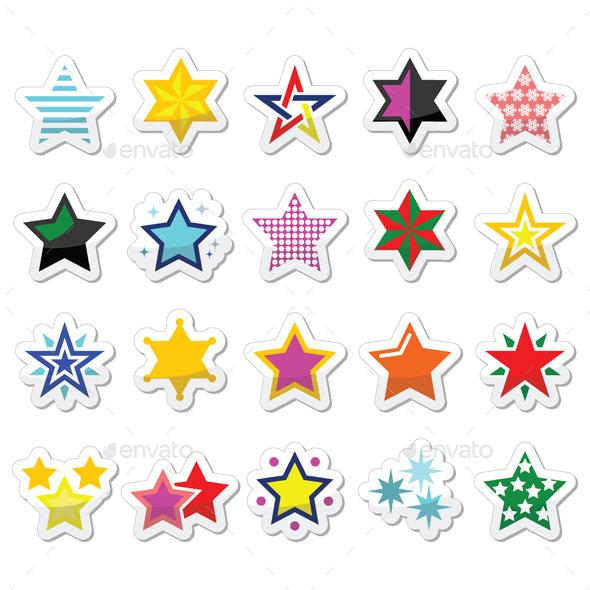 Colorful Star Icons  - Christmas Seasons/Holidays