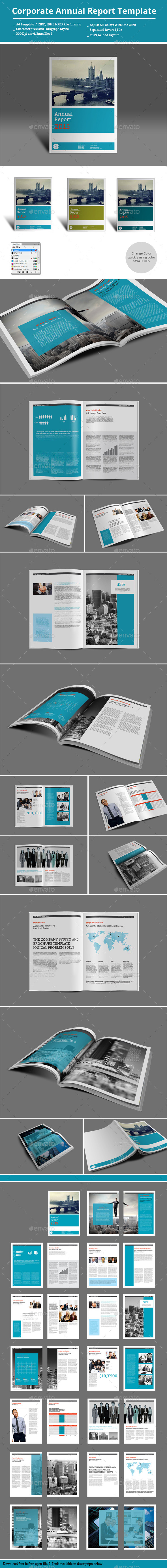 Corporate Annual Report Template - Informational Brochures