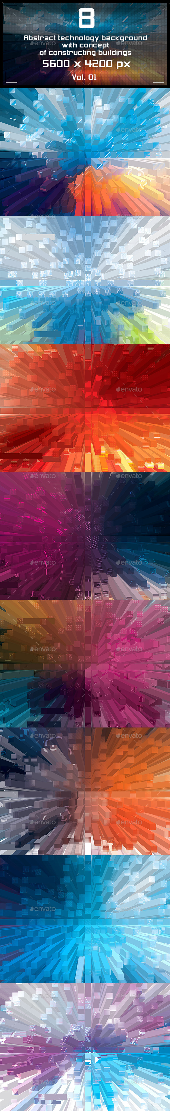 Abstract Technology Backgrounds - Tech / Futuristic Backgrounds