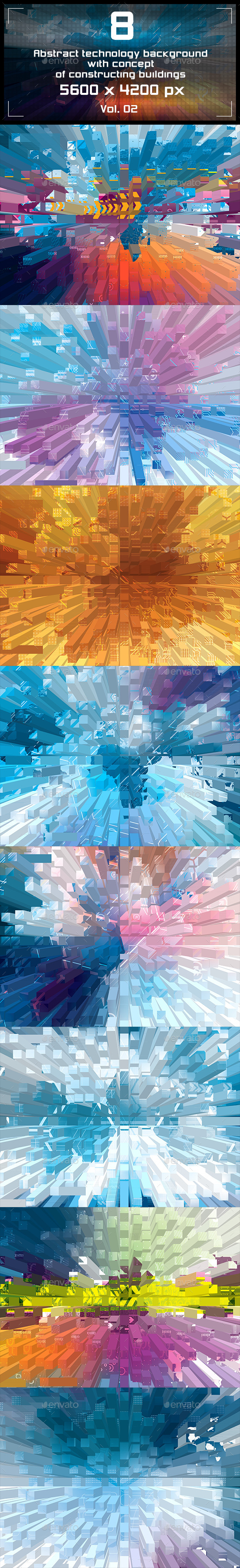 Abstract Background Technology - Tech / Futuristic Backgrounds