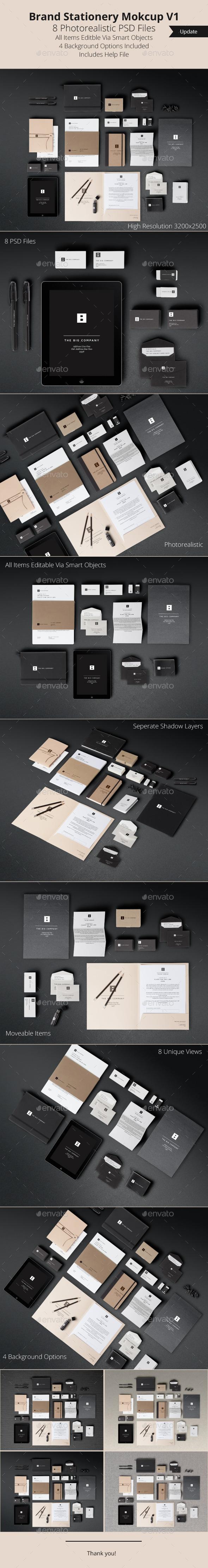 Brand Stationery Mockup V1 - Stationery Print