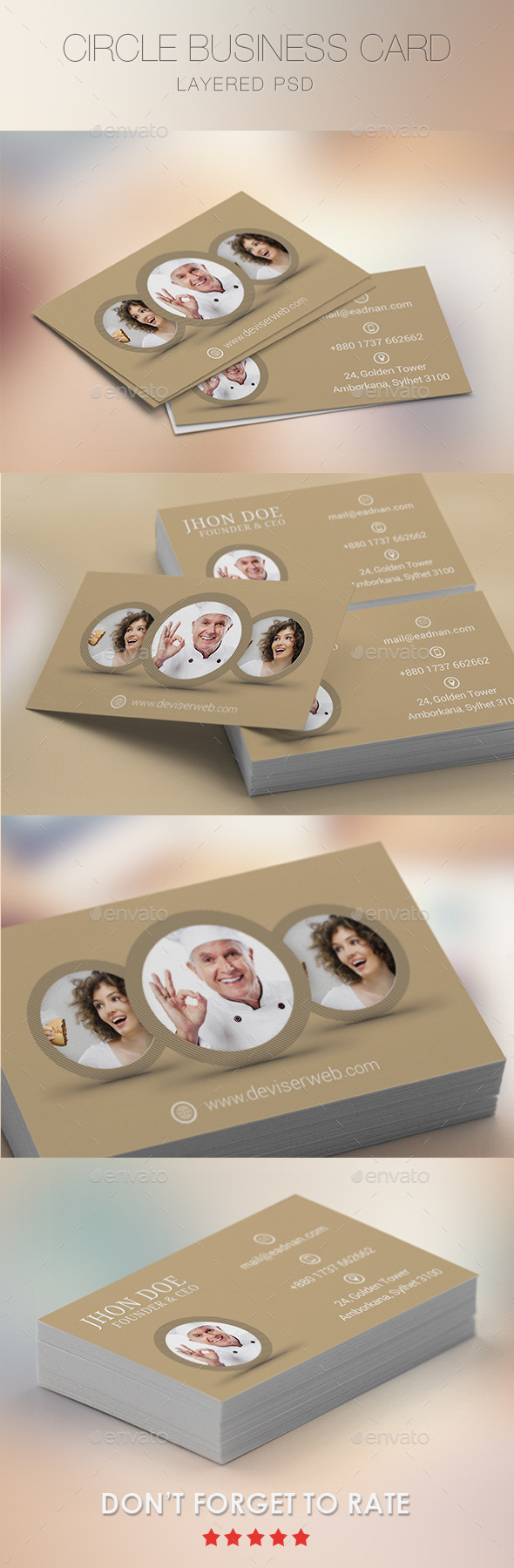 Creative Circle Business Card Template - Creative Business Cards