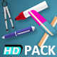 School Stationary Items (11-Pack) - VideoHive Item for Sale
