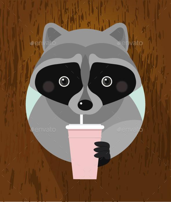 Flat Raccoon - Animals Characters
