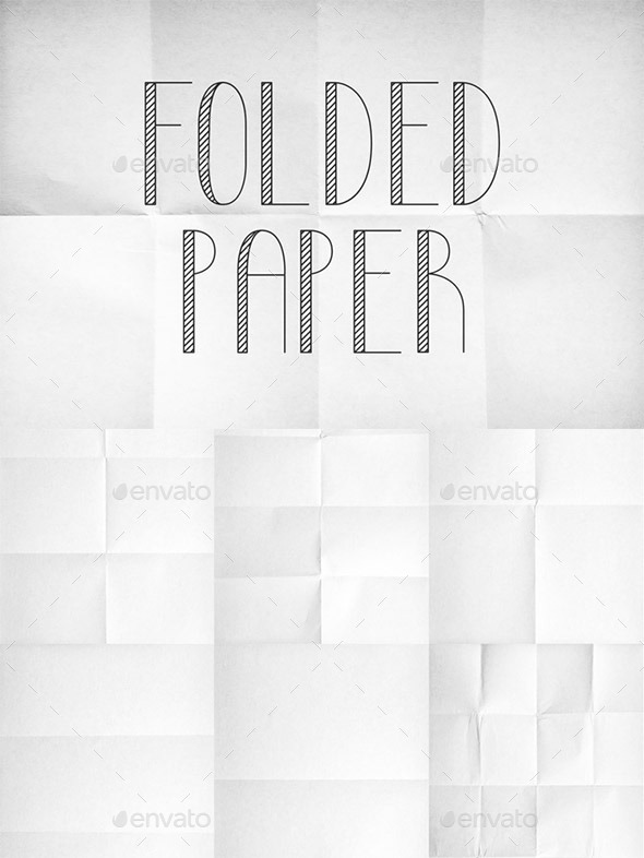 Folded Paper Texture Pack 1 - Paper Textures