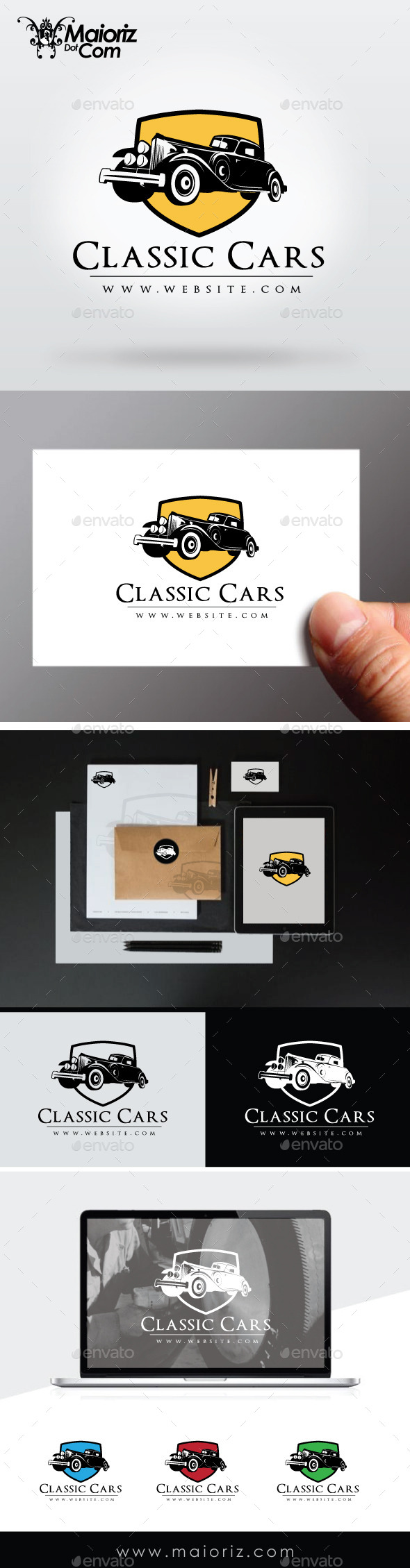 Classic Cars Logo Template - Crests Logo Templates