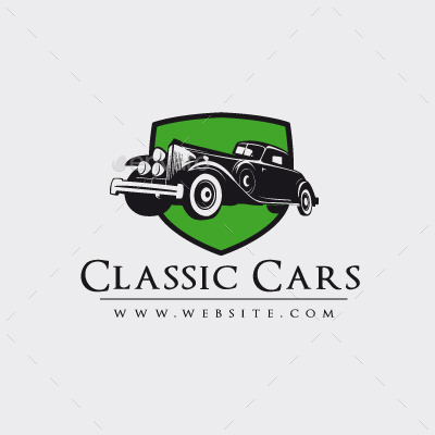 Classic Cars Logo Template By Maioriz Graphicriver