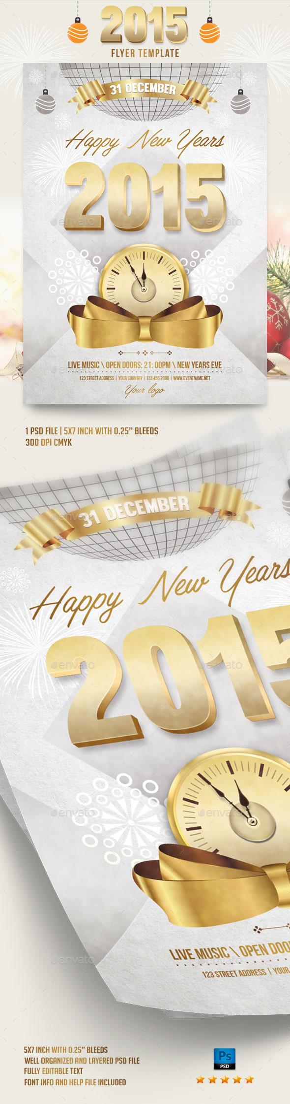 2015 Flyer Template - Flyers Print Templates