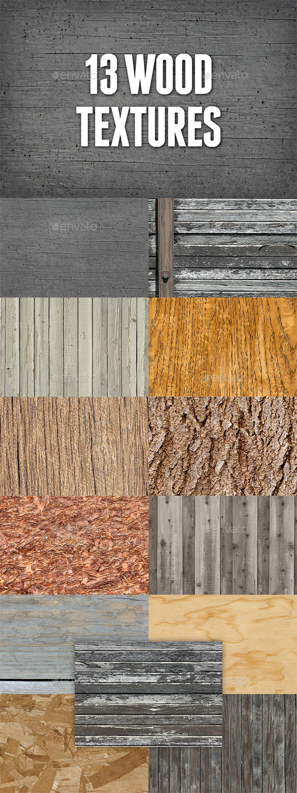 Seamless Wood Textures Pack 1 - Wood Textures