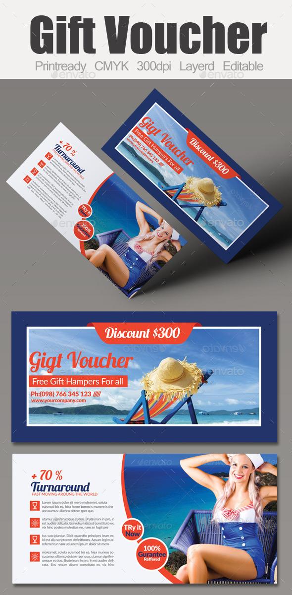 Tour Travel Gift Voucher - Cards & Invites Print Templates